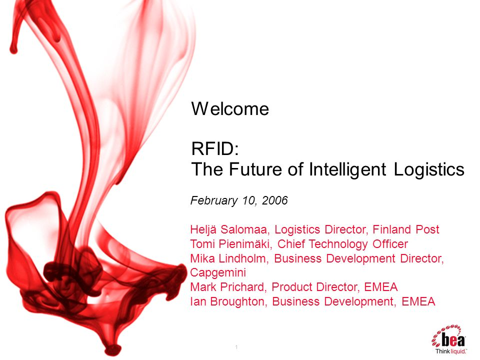 Welcome RFID: The Future of Intelligent Logistics