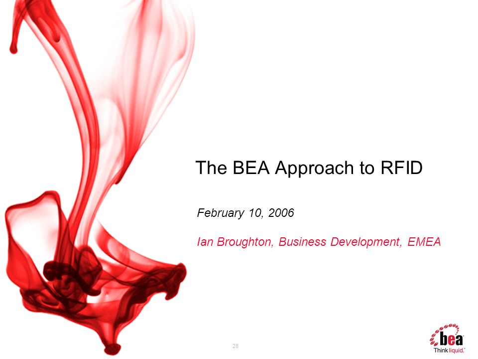 The BEA Approach to RFID