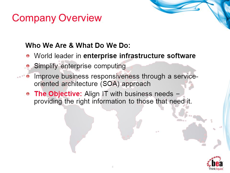 Company Overview Who We Are & What Do We Do: