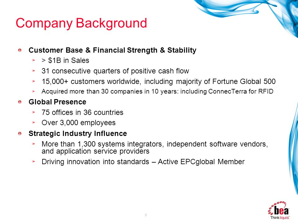 Company Background Customer Base & Financial Strength & Stability