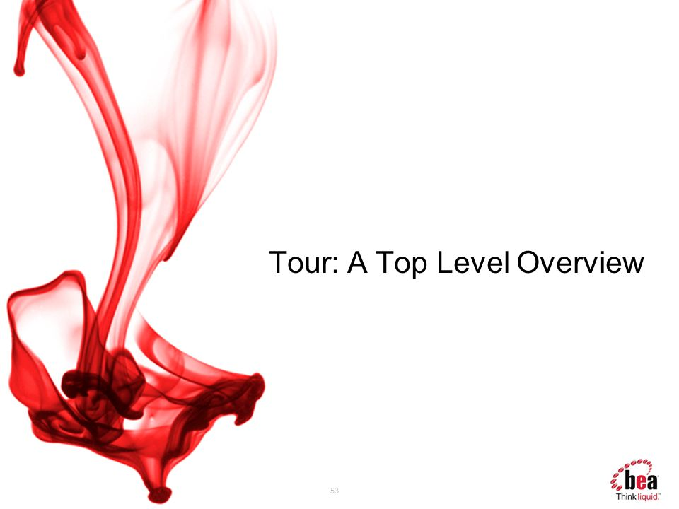 Tour: A Top Level Overview