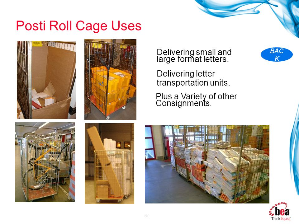 Posti Roll Cage Uses Delivering small and large format letters.