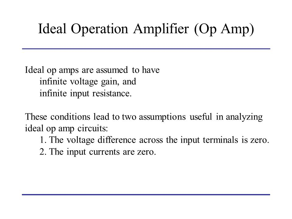 Ideal Operation Amplifier (Op Amp)