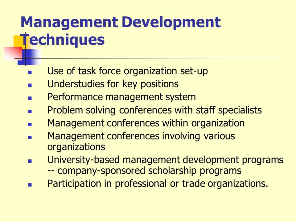 Management Development Techniques