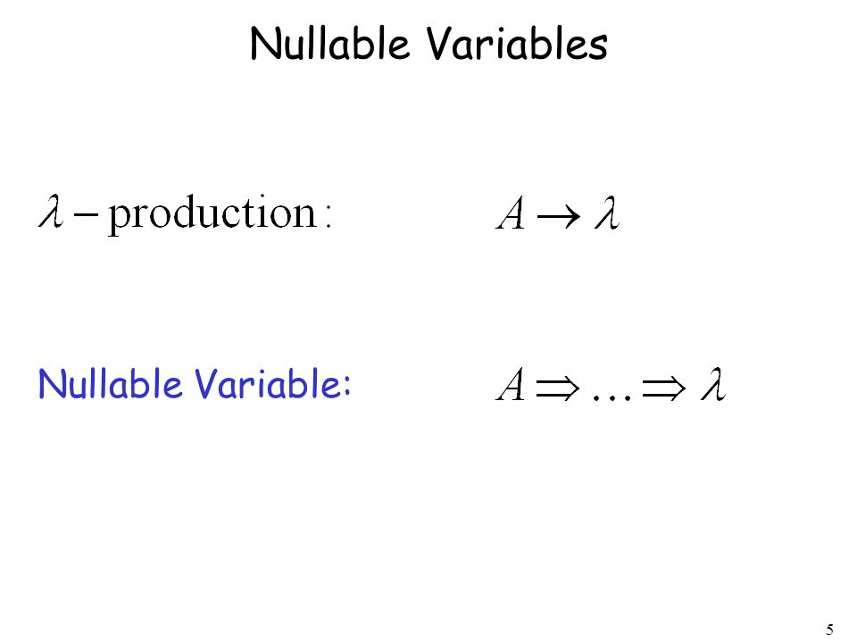 Nullable Variables Nullable Variable: