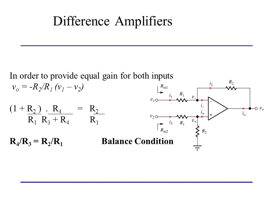 Difference Amplifiers