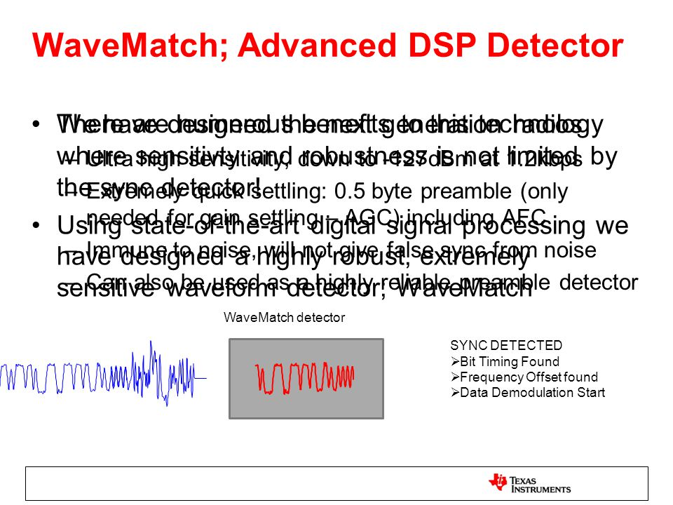 WaveMatch; Advanced DSP Detector