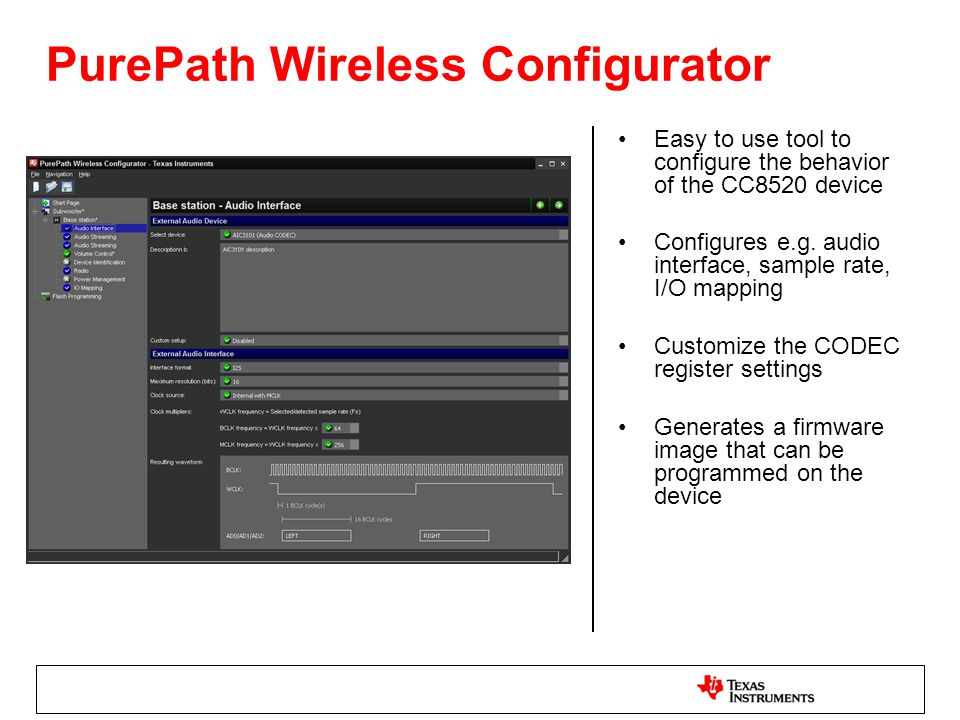 PurePath Wireless Configurator