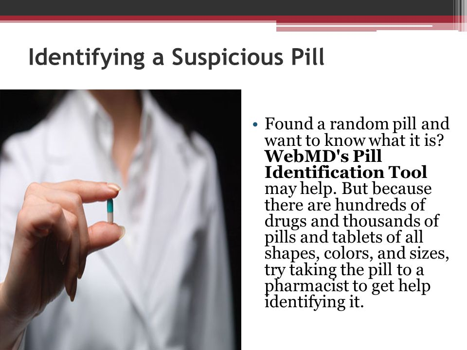 Identifying a Suspicious Pill