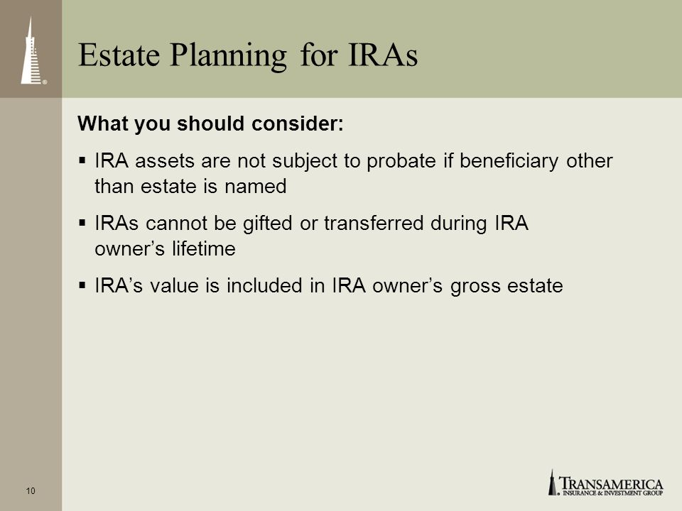 Estate Planning for IRAs