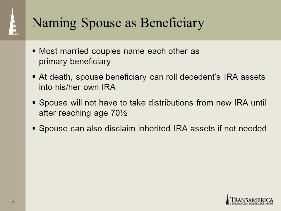 Naming Spouse as Beneficiary