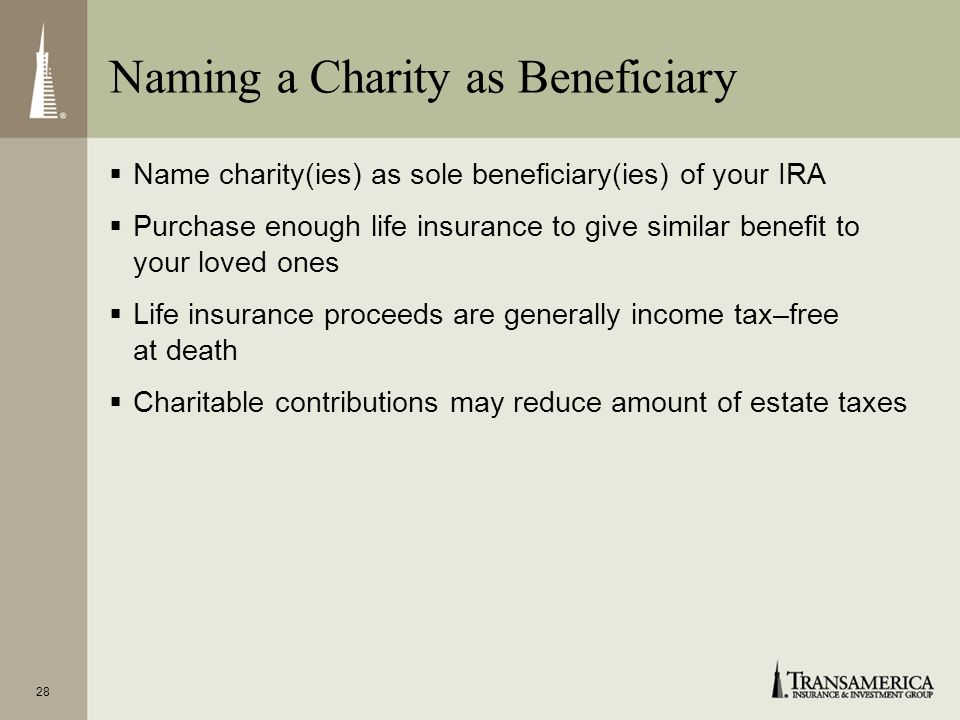 Naming a Charity as Beneficiary
