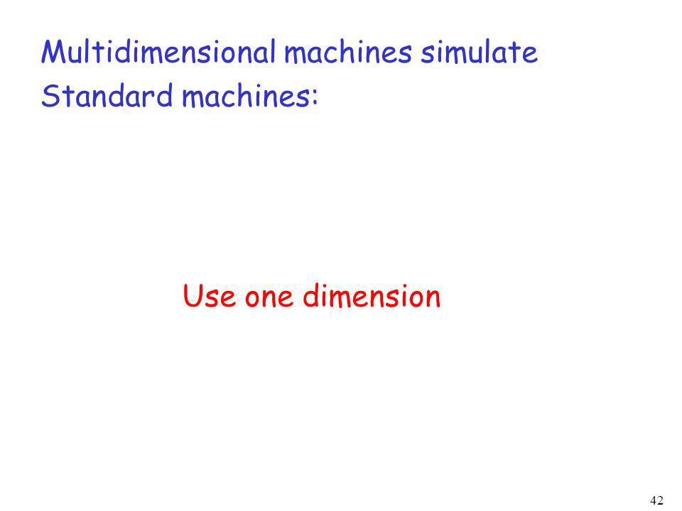 Multidimensional machines simulate