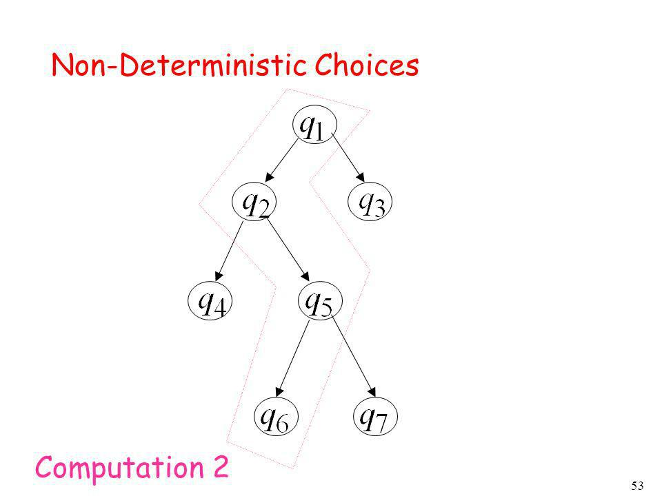 Non-Deterministic Choices