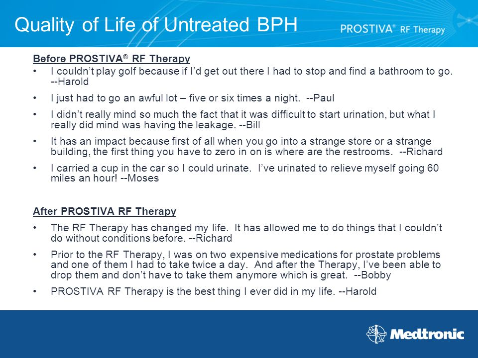 Quality of Life of Untreated BPH
