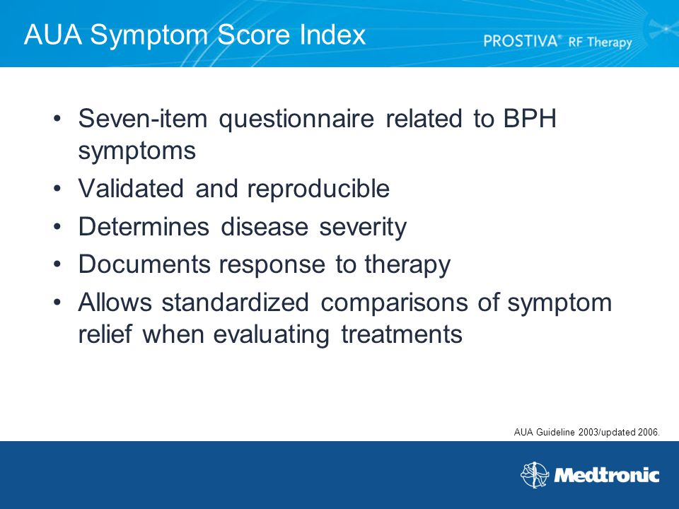 AUA Symptom Score Index