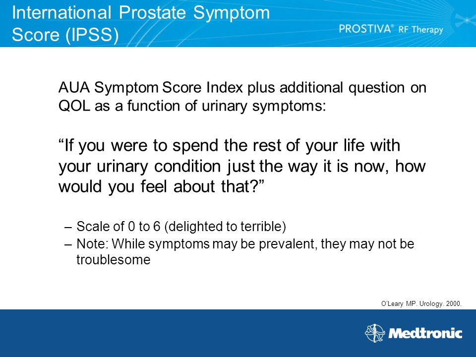 International Prostate Symptom Score (IPSS)