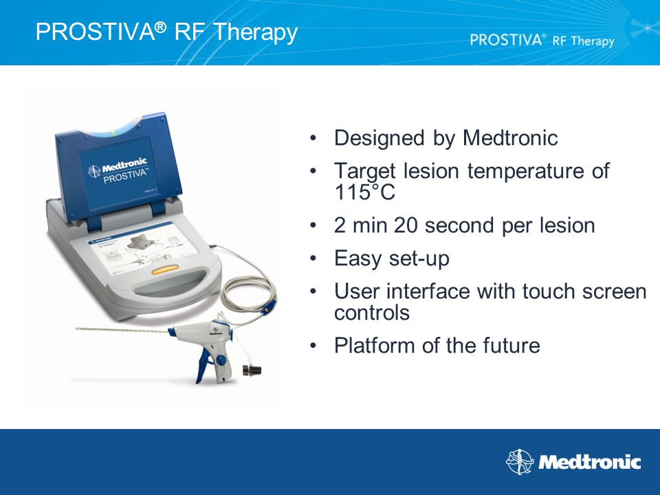 PROSTIVA® RF Therapy Designed by Medtronic