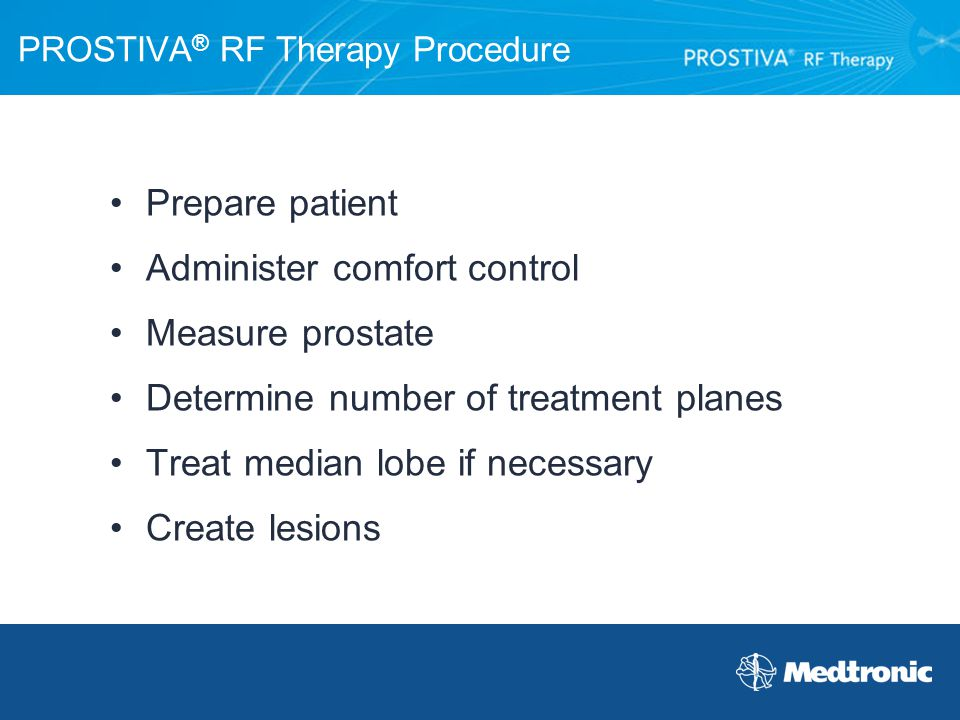 PROSTIVA® RF Therapy Procedure