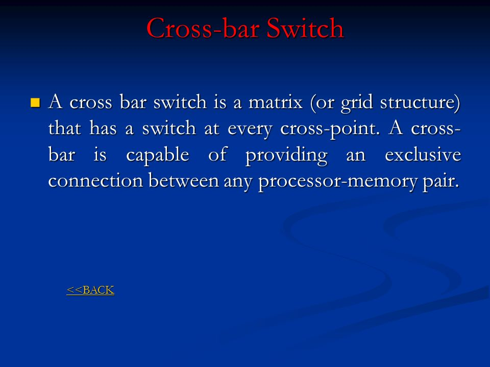 Cross-bar Switch