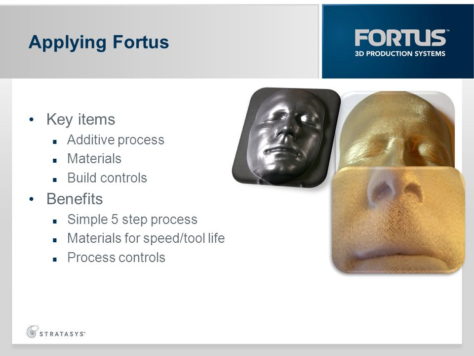 Applying Fortus Key items Benefits Additive process Materials