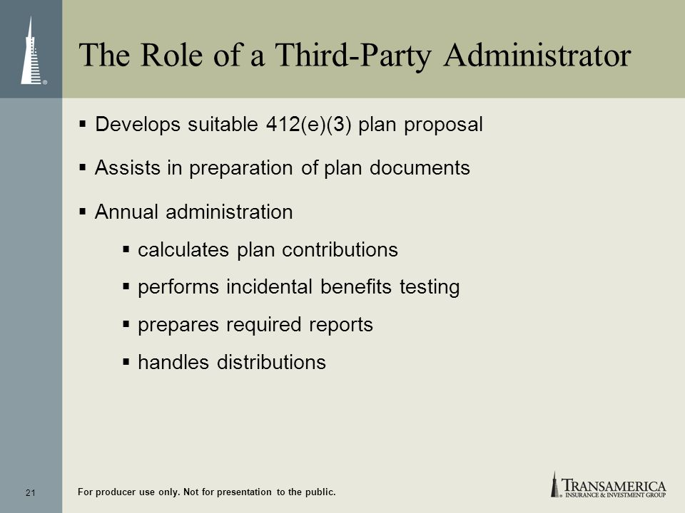 The Role of a Third-Party Administrator