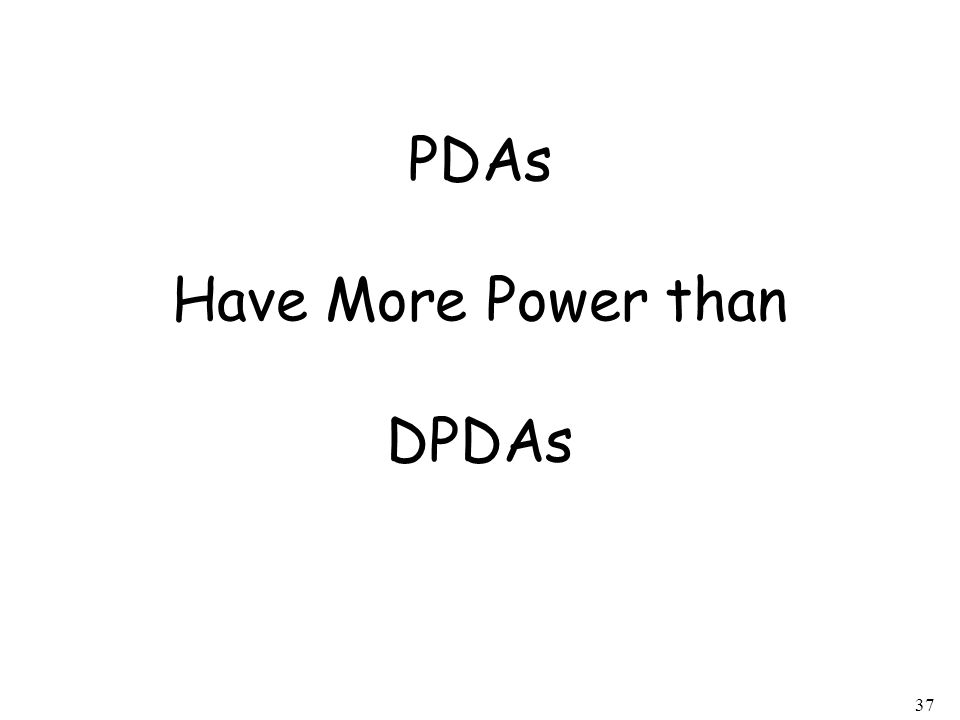 PDAs Have More Power than DPDAs
