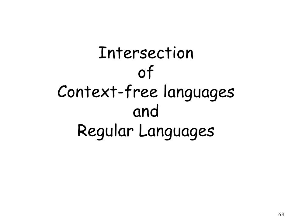 Intersection of Context-free languages and Regular Languages