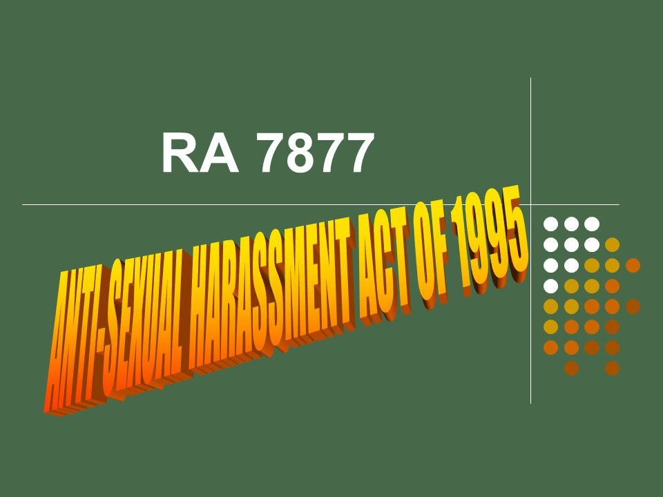 ANTI-SEXUAL HARASSMENT ACT OF 1995