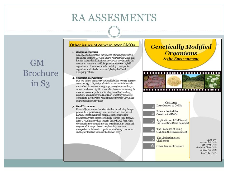 RA ASSESMENTS GM Brochure in S3