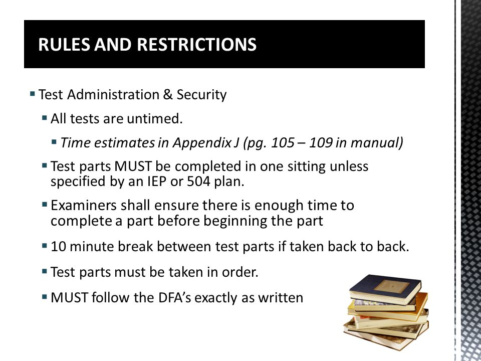 RULES AND RESTRICTIONS