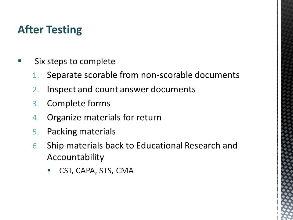 After Testing Separate scorable from non-scorable documents