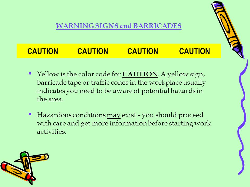 WARNING SIGNS and BARRICADES CAUTION CAUTION CAUTION CAUTION