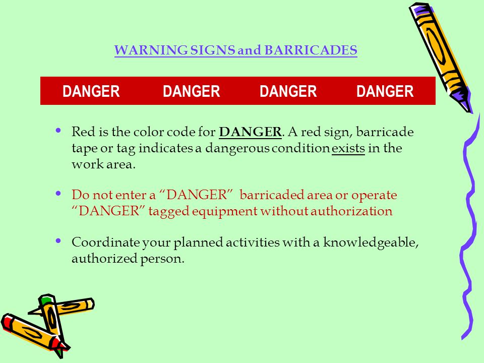 WARNING SIGNS and BARRICADES DANGER DANGER DANGER DANGER
