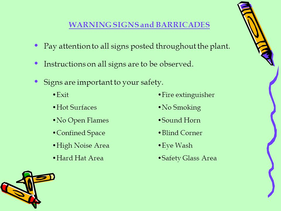 WARNING SIGNS and BARRICADES