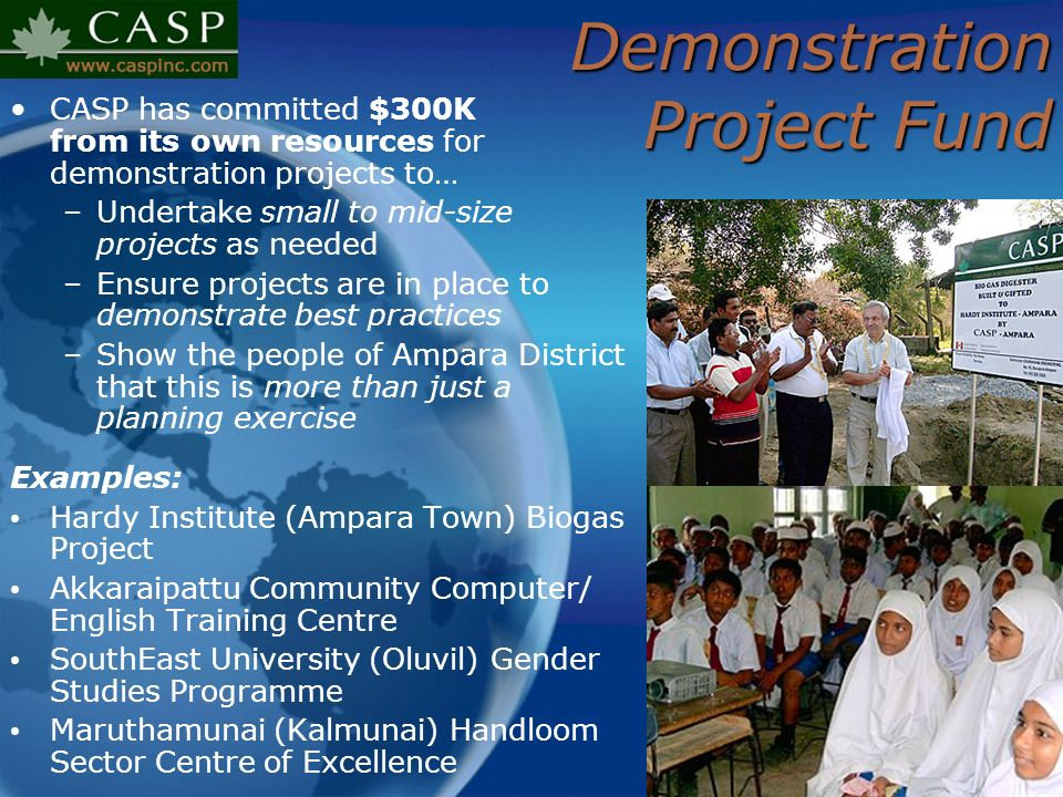 Demonstration Project Fund
