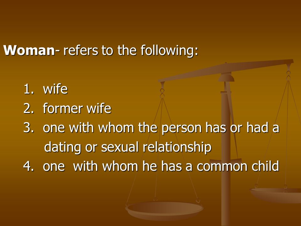Woman- refers to the following: