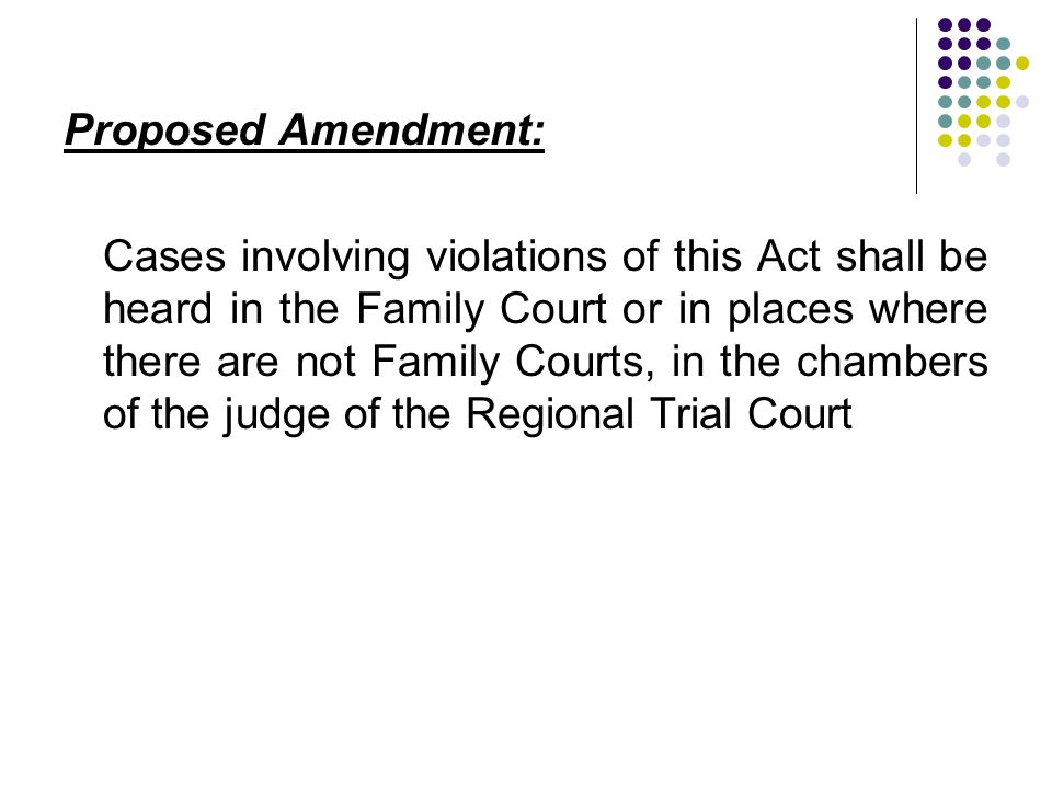 Proposed Amendment:
