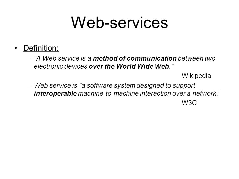 Web-services Definition:
