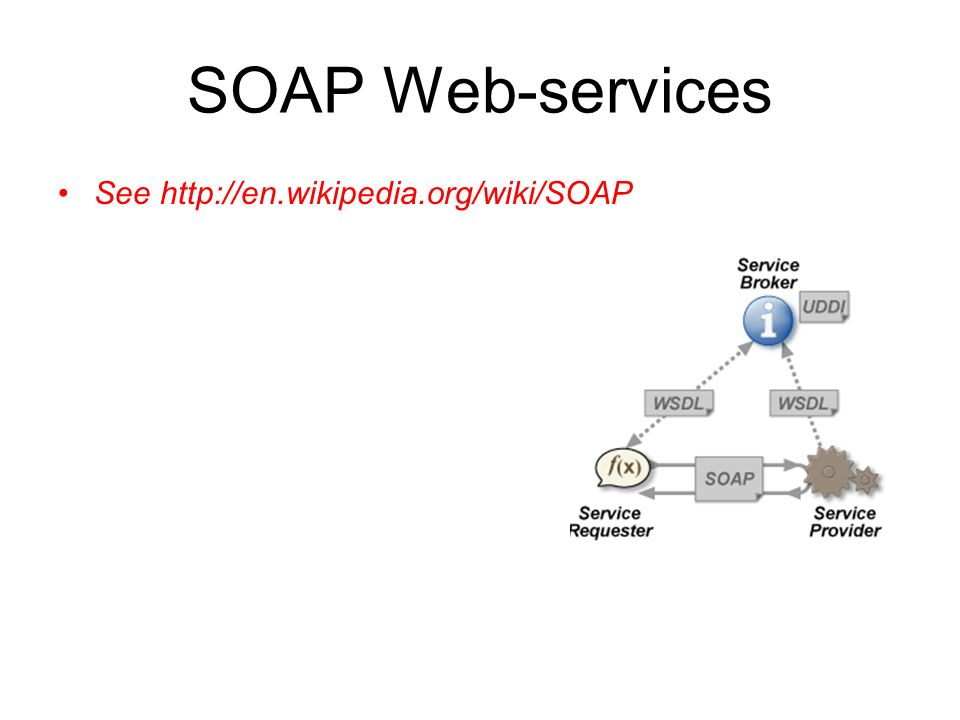 SOAP Web-services See http://en.wikipedia.org/wiki/SOAP