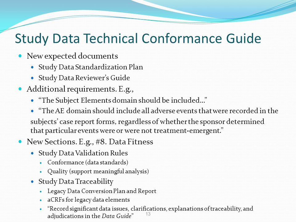 Study Data Technical Conformance Guide