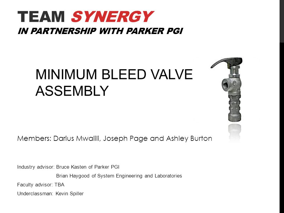 Team SYNERGY in Partnership with Parker PGI