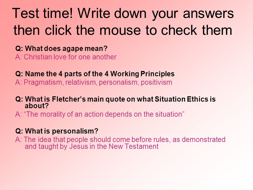 Test time! Write down your answers then click the mouse to check them
