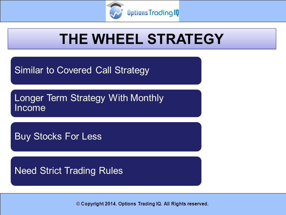 THE WHEEL STRATEGY Similar to Covered Call Strategy
