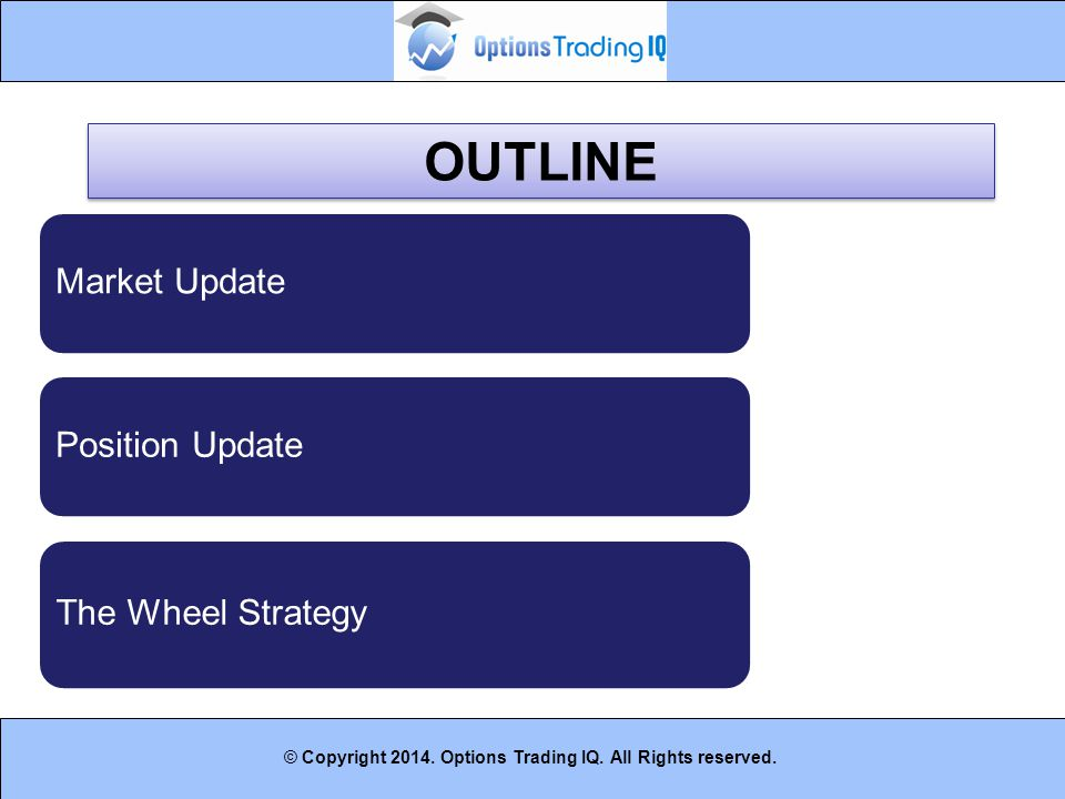 OUTLINE Market Update Position Update The Wheel Strategy 3