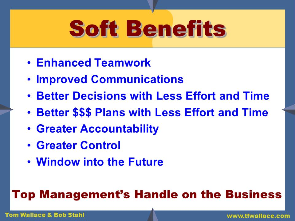 Soft Benefits Enhanced Teamwork Improved Communications