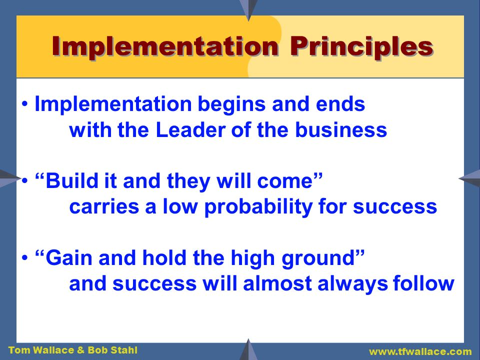 Implementation Principles