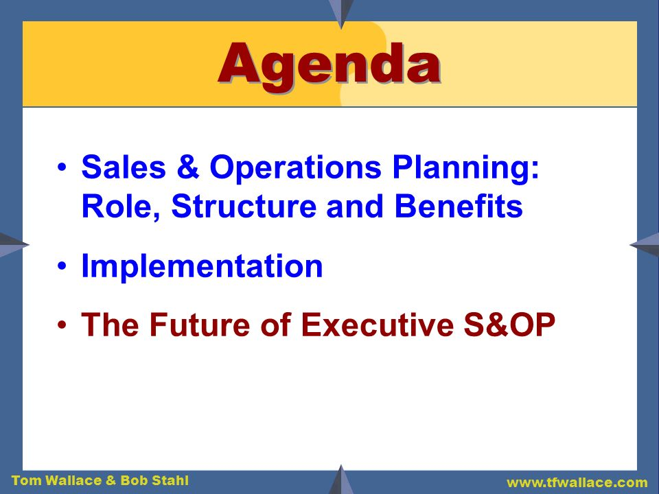 Agenda Sales & Operations Planning: Role, Structure and Benefits