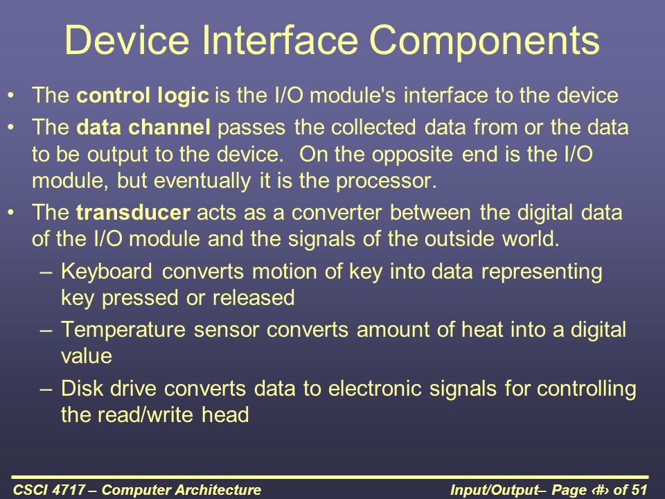 Device Interface Components