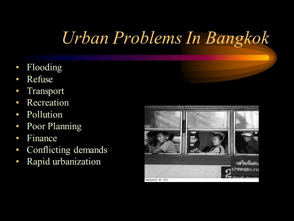 Urban Problems In Bangkok